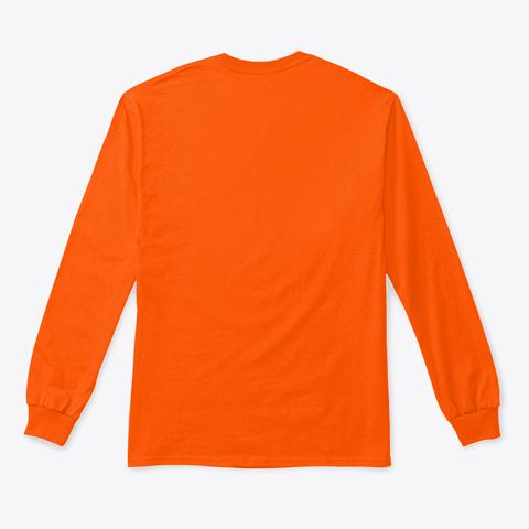 The Poles Posse Safety Orange Long Sleeve T-Shirt Back