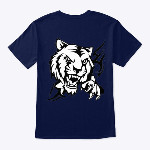 A Ferocious Tiger Navy T-Shirt Back