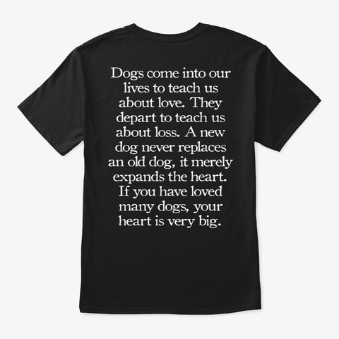 A Dog's Love Black T-Shirt Back