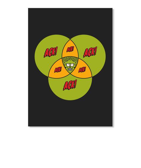 Ack Ack Ack Sticker [Int] #Sfsf Black Adesivo Front