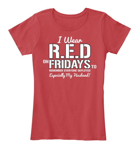 Army Wife T Shirt! Classic Red T-Shirt Front