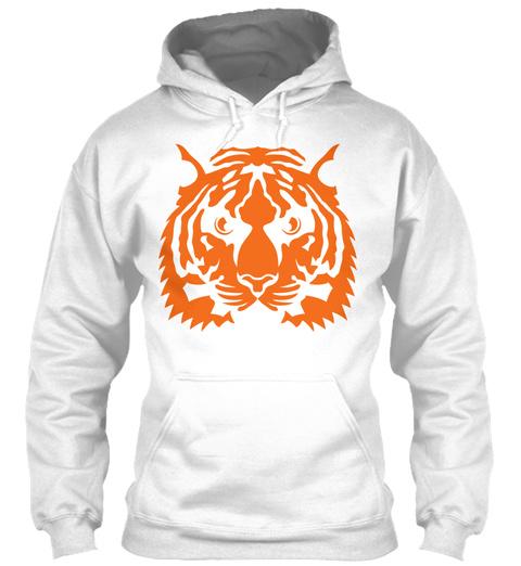 Tiger Head Animals Wild 7013 White T-Shirt Front