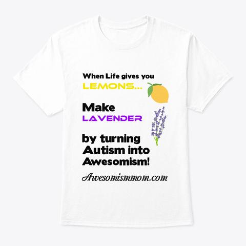 Lemons And Lavender White T-Shirt Front