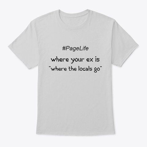 #Pagelife Tee 2 Light Steel T-Shirt Front