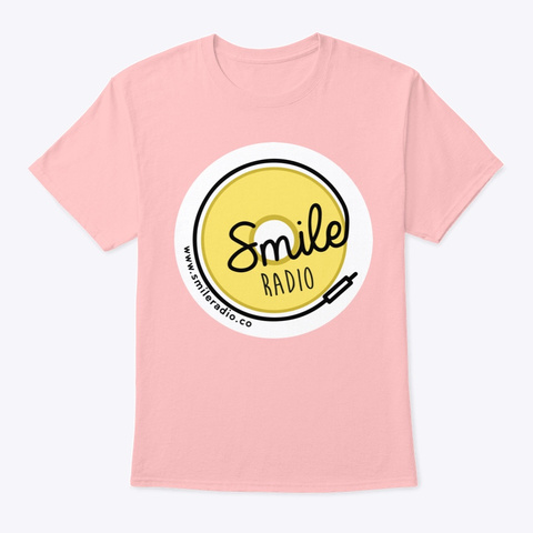 Smile Radio Merch Pale Pink T-Shirt Front