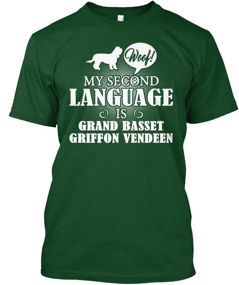 Grand Basset Griffon Vendeen Deep Forest T-Shirt Front