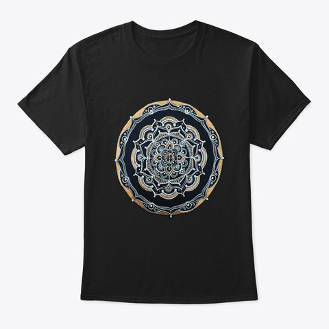 Sacred Fractal Geometry Art To Spread Go Black T-Shirt Front