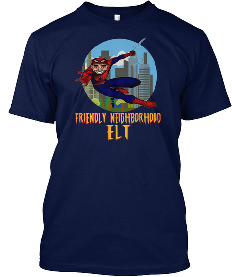 Friendly Neighborhood Elt Navy Maglietta Front