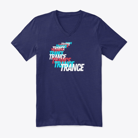 Trance Racing Red Blue White Navy T-Shirt Front