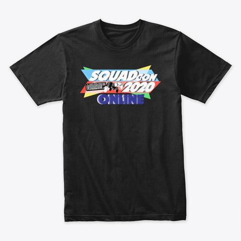 Squad Con 2020 Online Black T-Shirt Front