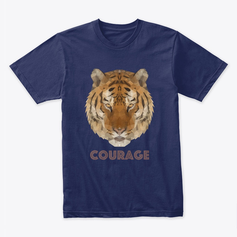 Polygon Art   Tiger Midnight Navy T-Shirt Front
