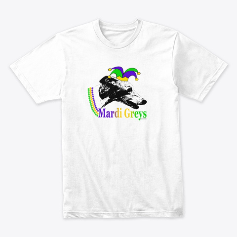 Mardi Greys 2020 White T-Shirt Front