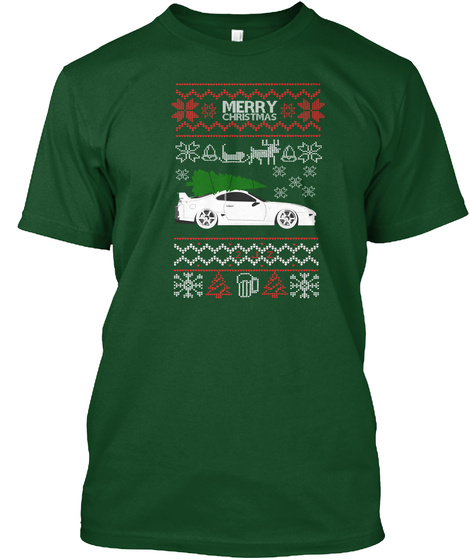 Merry Christmas Deep Forest T-Shirt Front