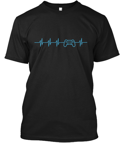 Life Or Game?! Black T-Shirt Front