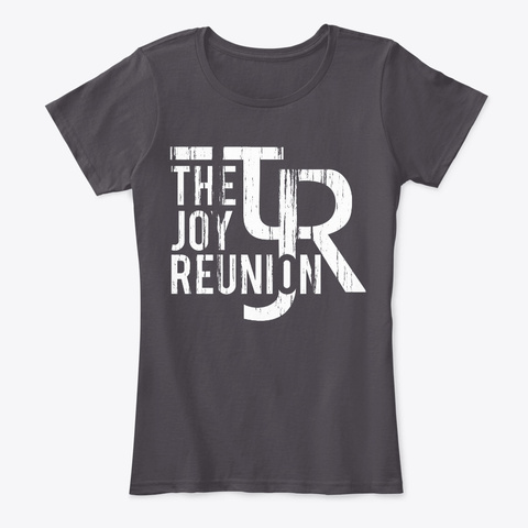 "Tjr ""Worn"" Female Tee  Heathered Charcoal  T-Shirt Front"