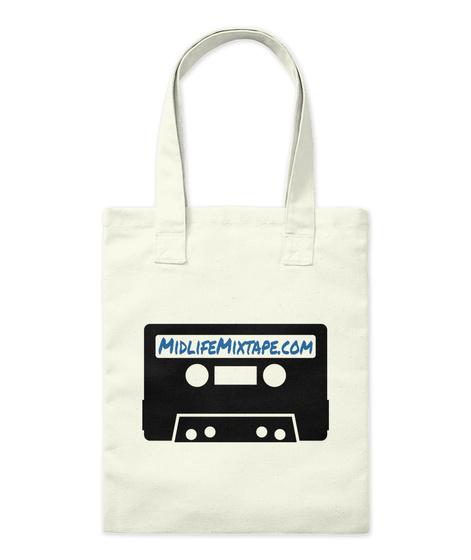 Midlifemixtape.Com Natural Tote Bag Front