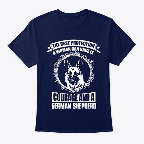 Dog German Shepherd Dog Navy T-Shirt Front