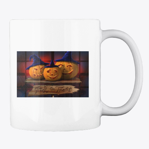 Halloween Mugs White T-Shirt Back