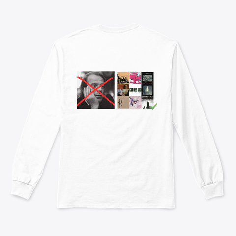 #Swag White T-Shirt Back