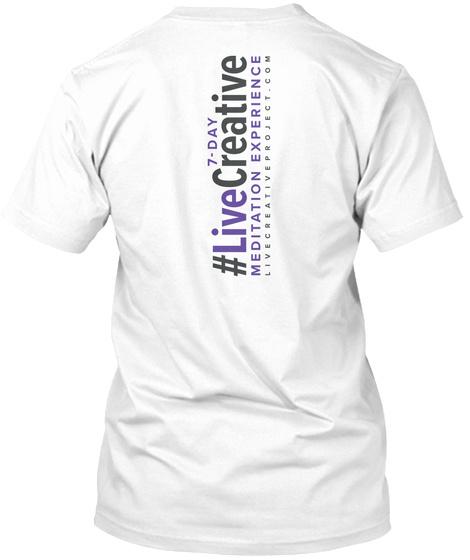 """""""I Am Light"""" 3rd Eye Chakra T Design White T-Shirt Back"""