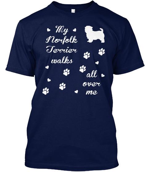 Norfolk Terrier Navy T-Shirt Front
