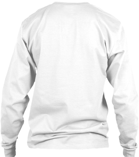 Veteran Warriors Fundraiser White Long Sleeve T-Shirt Back