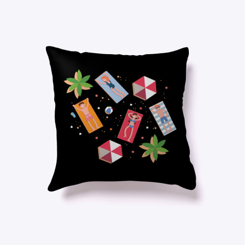 Indoor Pillow: Enjoy Black T-Shirt Front