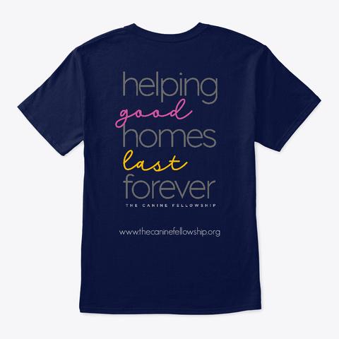 The Canine Fellowship Navy T-Shirt Back