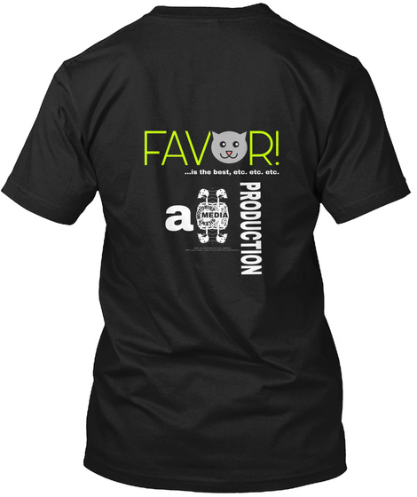 Favor! Krakow! Black T-Shirt Back