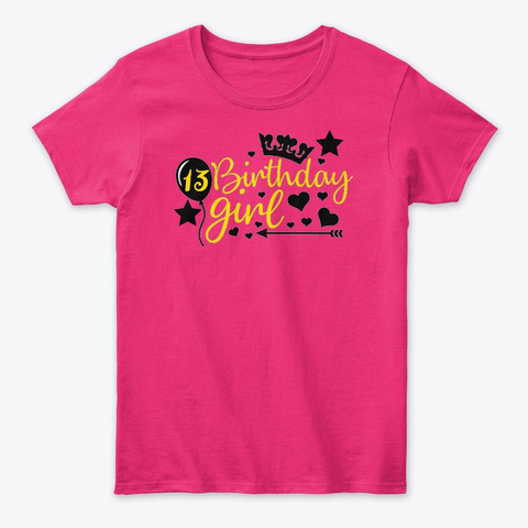 13 Birthday Girl Savannah Heliconia Women's T-Shirt Front
