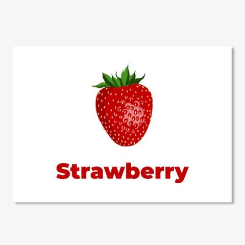 Strawberry Fruit White T-Shirt Front