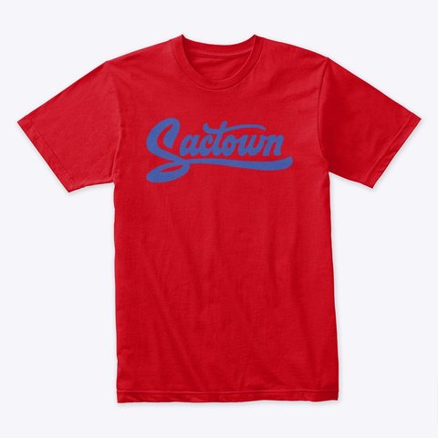 Sactown   1985 Blue Red T-Shirt Front
