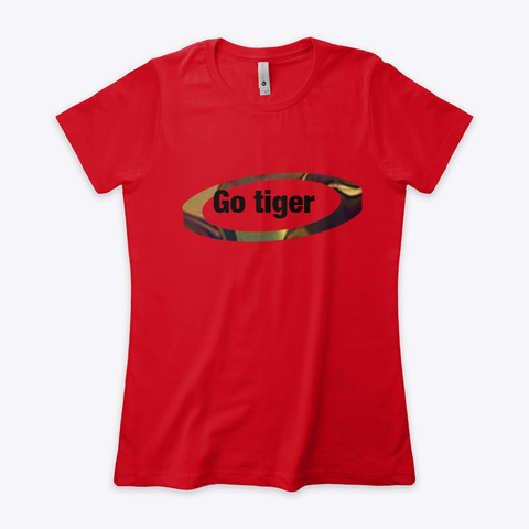 Go Tiger Red T-Shirt Front