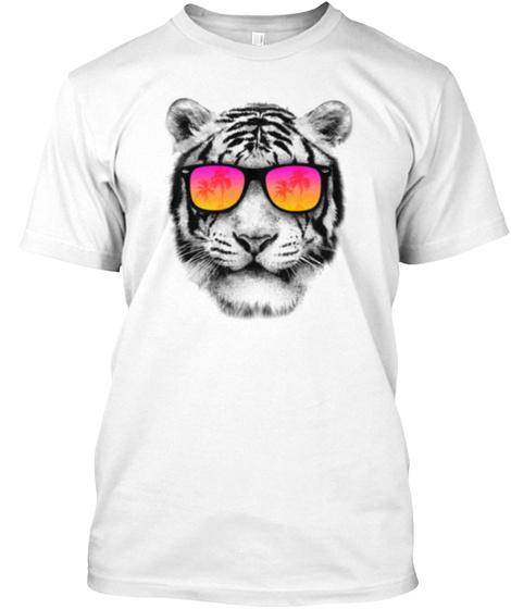 Polarized Tiger White T-Shirt Front