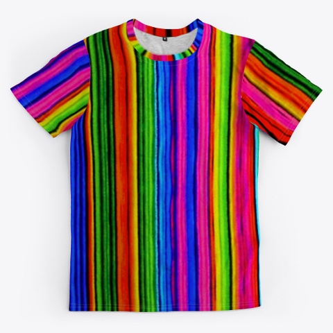 Turtle Tubbs Colorful Striped Unisex Tee Standard T-Shirt Front