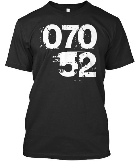 07052 Black T-Shirt Front