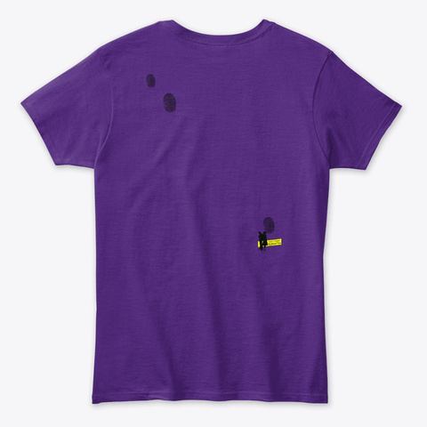 Whodunit Tops Purple T-Shirt Back