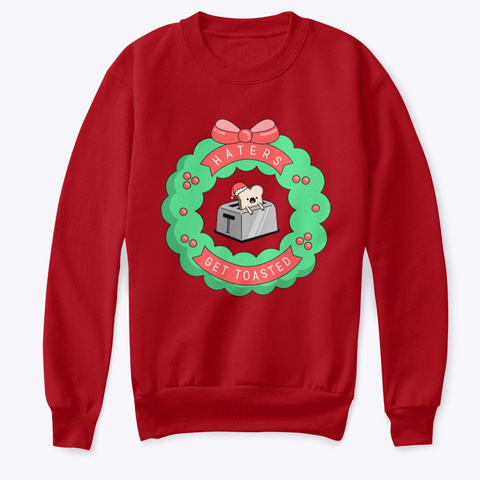 Holiday Toaster Kids Deep Red  T-Shirt Front