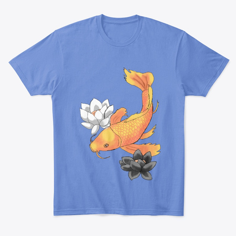 System Pride Koi Heathered Royal  T-Shirt Front