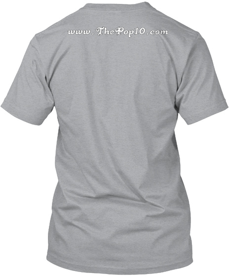 Www.The Pop10.Com Heather Grey T-Shirt Back