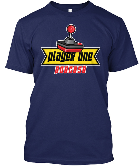Player One Podcast Navy T-Shirt Front