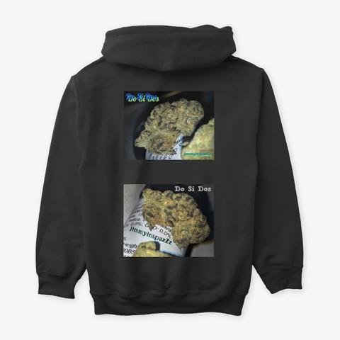 Jimmyinspaz Zz 'do Si Dos' Cannabis Black T-Shirt Back