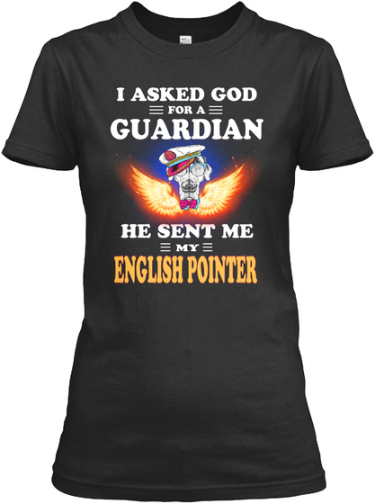 I'm In Love With English Pointer Black T-Shirt Front