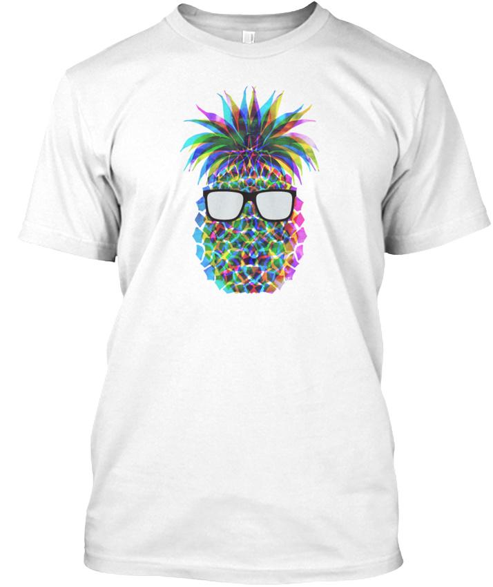 22dd16908 Cool Pineapple Graphic 3d Mens Premium Hanes Tagless Tee T-Shirt | eBay