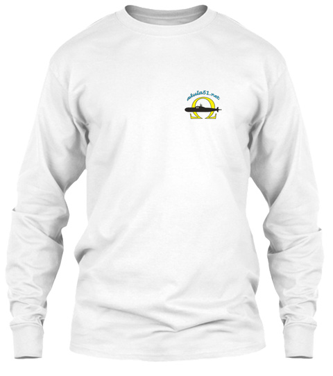Alnina 51 Plat White Long Sleeve T-Shirt Front