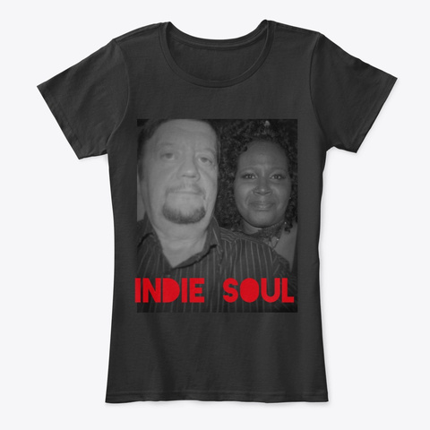 Indie Soul Love Black T-Shirt Front