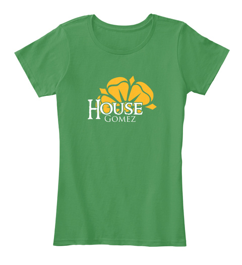 Gomez Family House   Flower Kelly Green  T-Shirt Front