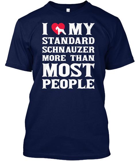 Standard Schnauzer Navy T-Shirt Front