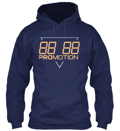 "Promotion Hoodie ""Apricot"" Navy T-Shirt Front"