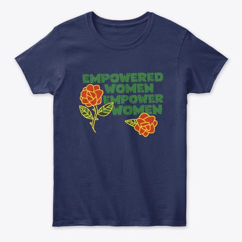 Vintage Empowered Women Empower Women  Navy T-Shirt Front